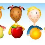 kidsholdingfruit