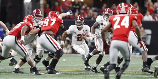 1/8/18 MFB vs Georgia CFP National Championship Alabama quarterback Jalen Hurts (2) Photo by Crimson Tide Photos